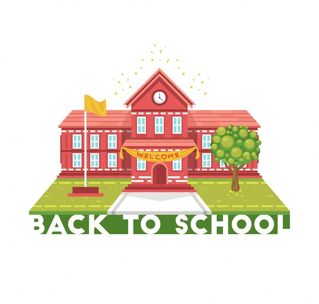 Ilustración del edificio escolar