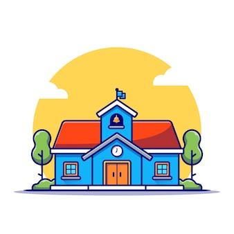 Ilustración del edificio de la escuela