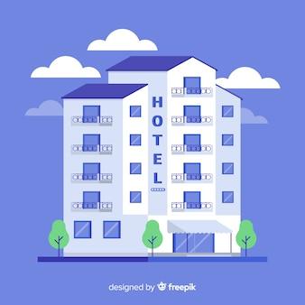 Ilustración edificio de hotel plano