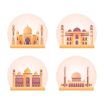 Ilustración del edificio de la mezquita
