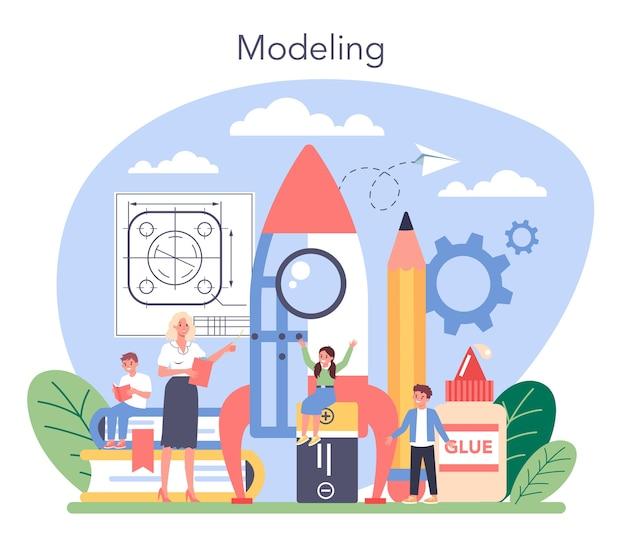 Ilustración de educación de la escuela de arte