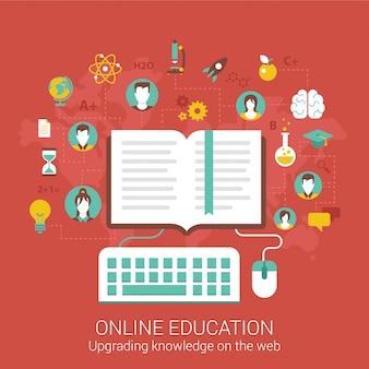 Ilustración de educación en línea.