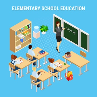 Ilustración de educación secundaria