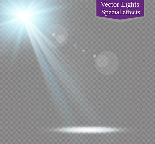 Ilustración de efecto de luz resplandor