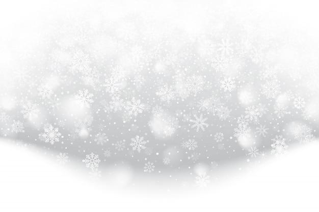 Ilustración de efecto de nieve caída de navidad