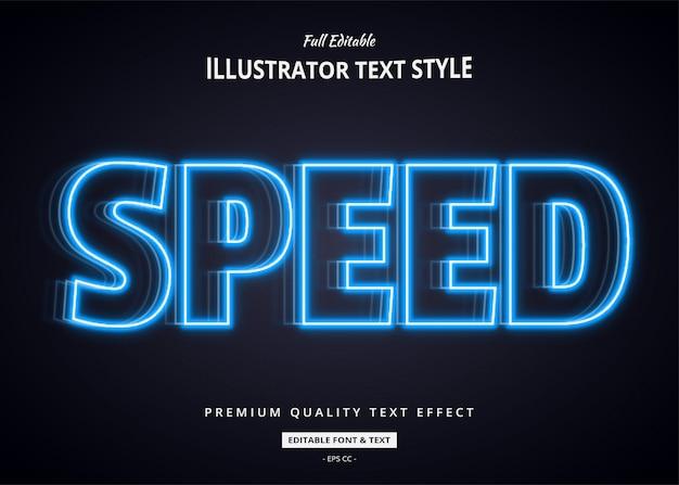 Ilustración de efecto de texto moderno