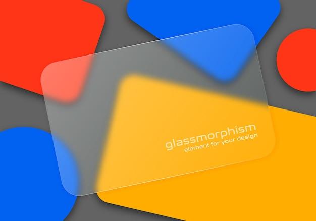 Ilustración con efecto de vidrio esmerilado. estilo glassmorfismo. ilustración.