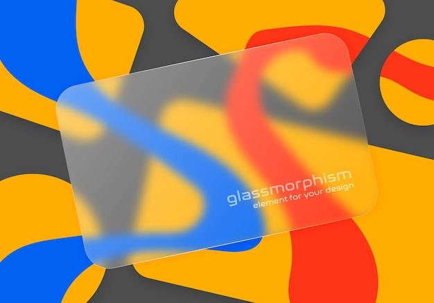 Ilustración con efecto de vidrio esmerilado. estilo glassmorfismo.