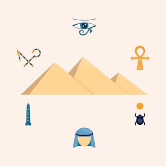 Ilustración de egipto
