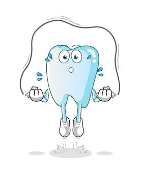 Ilustración de ejercicio de cuerda de saltar de diente