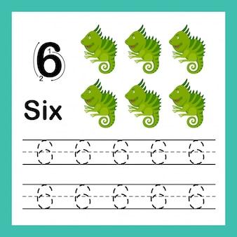 Ilustración de ejercicio de puntos de conexión y números imprimibles