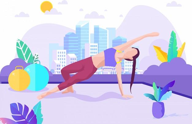 Ilustración de ejercicio de yoga