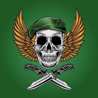 Ilustración del ejército del soldado del cráneo