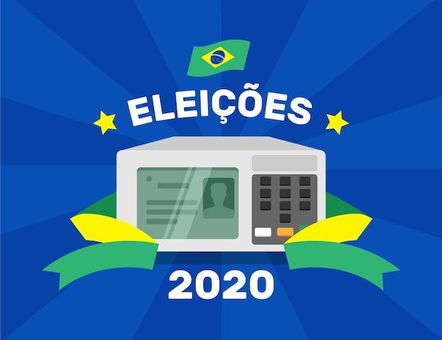 Ilustración de elecciones de brasil 2020