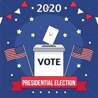 Ilustración de las elecciones presidenciales de ee. uu.