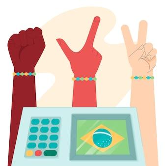 Ilustración de elecciones de votación de brasil
