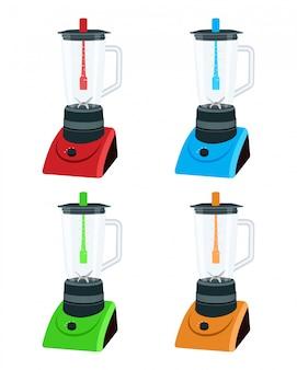 Ilustración de electrodomésticos de cocina blender