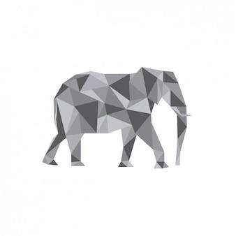 Ilustración de elefante poligonal