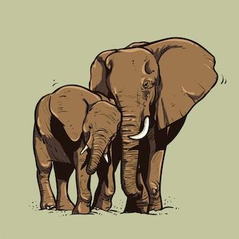 Ilustración de elefante