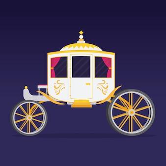Ilustración del elegante carro de cuento de hadas