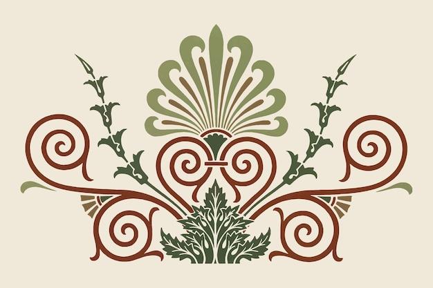 Ilustración de elemento decorativo griego antiguo