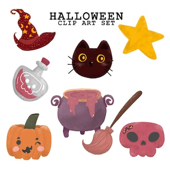 Ilustración de elemento de halloween