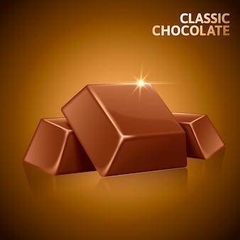 Ilustración de elemento de piezas de chocolate