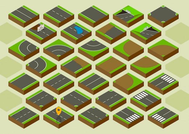 Ilustración de elementos de carretera