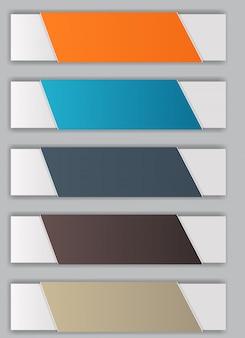 Ilustración de elementos de diseño de infografía