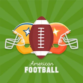 Ilustración de elementos de fútbol americano