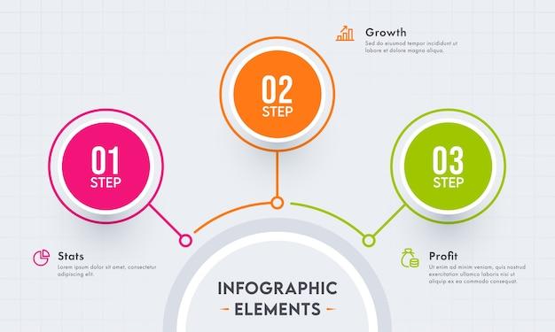 Ilustración de elementos de infografía empresarial