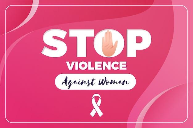 Ilustración de la eliminación de la violencia contra la mujer