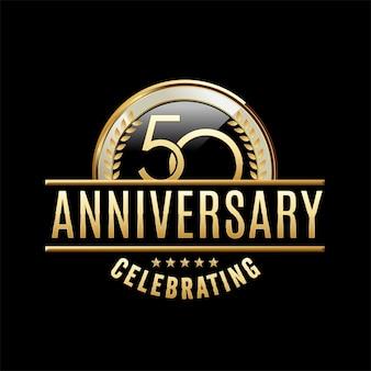 Ilustración de emblema de aniversario de 50 años