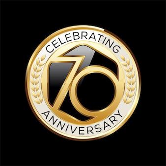 Ilustración de emblema de aniversario de 70 años