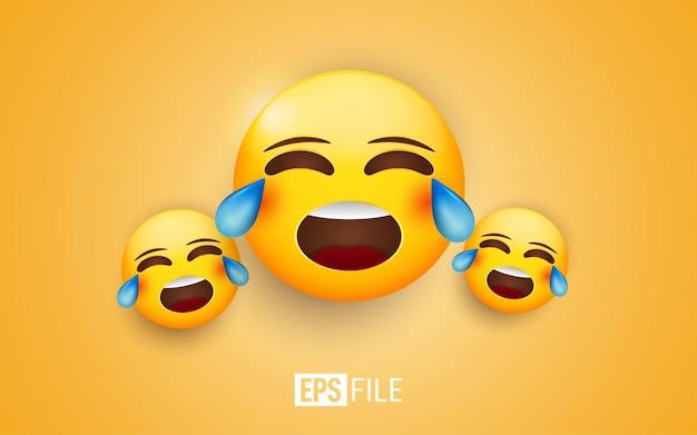 Ilustración de emoticonos de cara llorando