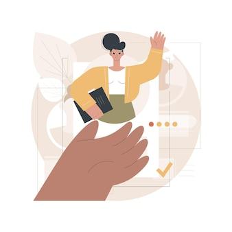 Ilustración de empleado de contratación