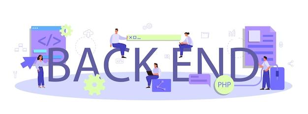 Ilustración de encabezado tipográfico de back-end