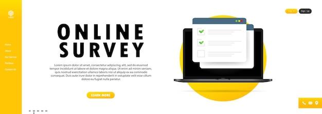 Ilustración de encuesta en línea
