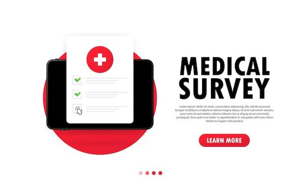 Ilustración de encuesta médica