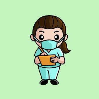Ilustración de enfermera