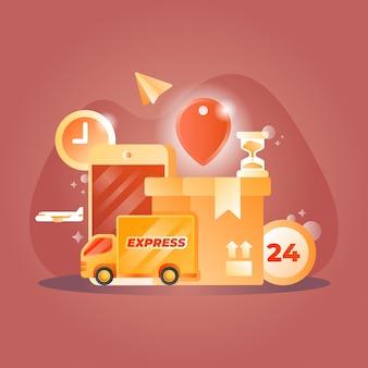 Ilustración de entrega