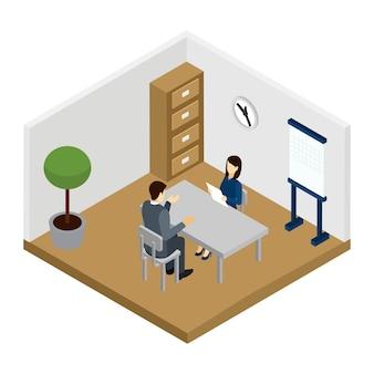 Ilustración de entrevista de reclutamiento