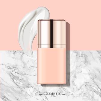 Ilustración de envase cosmético