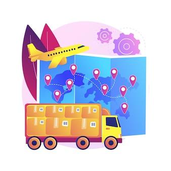Ilustración de envío internacional