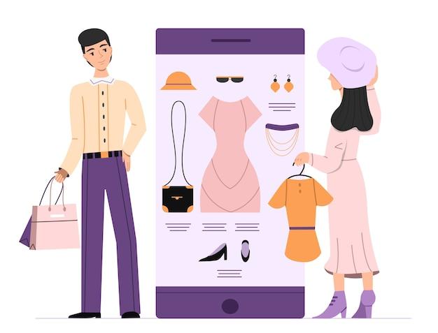Ilustración de envío de mujer en línea