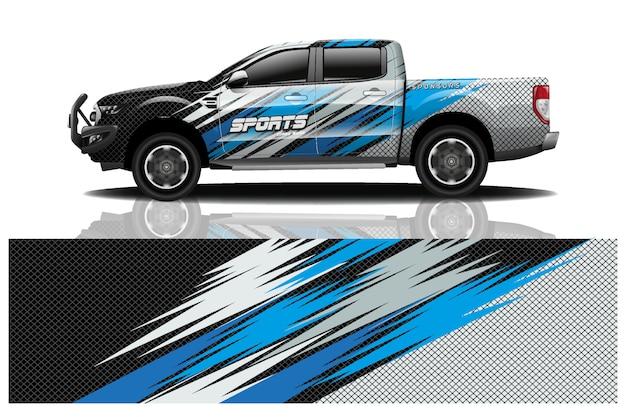 Ilustración de envoltura de calcomanía de camión
