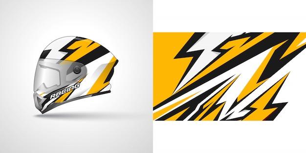 Ilustración de envoltura de casco de carreras