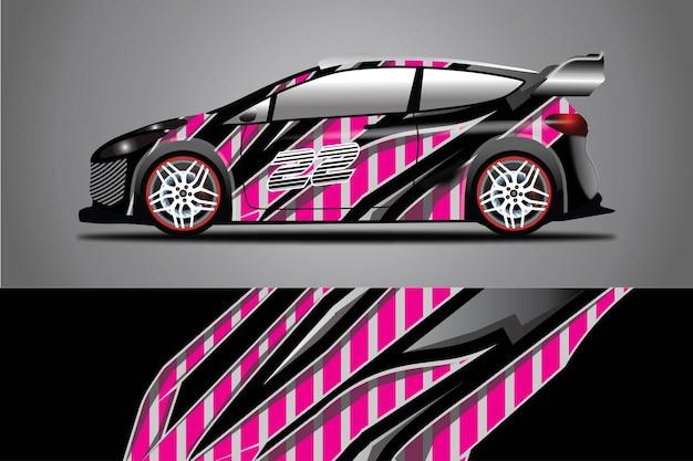Ilustración de envoltura de vector de calcomanía de coche