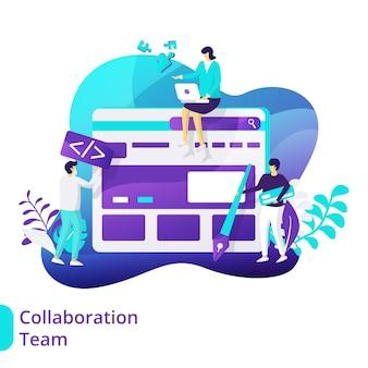 Ilustración del equipo de colaboración