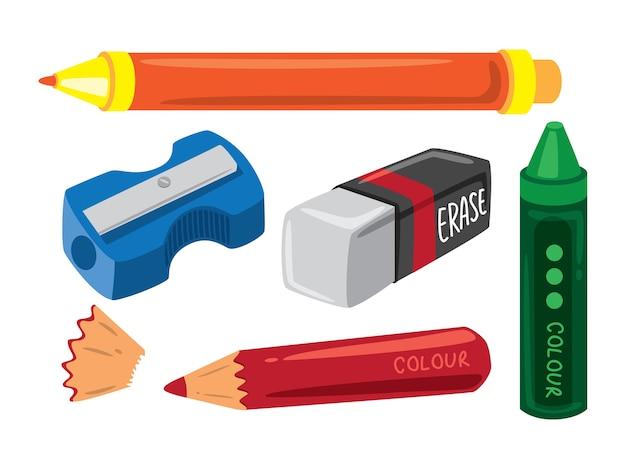 Ilustración del equipo de dibujo